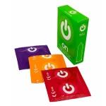 Презервативы ON fruit & color (3 шт.) - цветные, ароматизированные (ширина 54mm)
