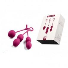 Вагинальные шарики Nova Ball  со смещенным центром тяжести цв. розовый