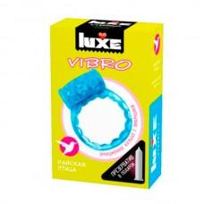 Виброкольцо LUXE VIBRO Райская птица + презерватив