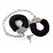 Меховые оковы на ноги BONDAGE черные 1020-01lola (1020-01lola)