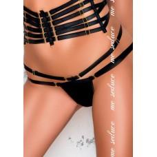 Стринги с лентами на талии черные Госпожа Лоретта (Me Seduce) (S/M) (4052)