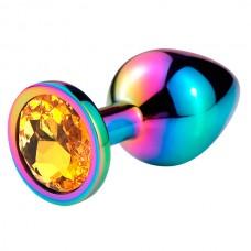 """Пробка анальная """"Vandersex"""", S, металл, оранжевый кристалл, Hamelion (169-S-ORN-HAM)"""