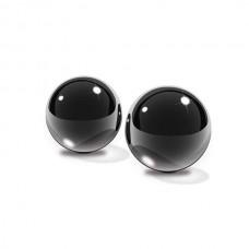 Вагинальные шарики Small Black Glass Ben-Wa Balls из стекла черные