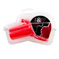 Насадка на пенис силиконовая, красная 901321-9
