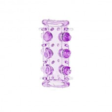 Насадка на фаллос с шипами и бусинками (цвет-фиолетовый)