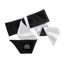 Галстук-фиксация Satin Restraint Wrist Tie черный с серым Fifty Shades of Grey