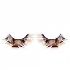 Ресницы коричневые перья