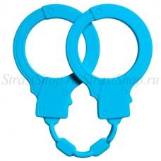 Силиконовые наручники Stretchy Cuffs Turquoise (4008-03Lola)