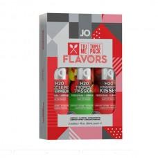 Подарочный набор ароматизированных лубрикантов Tri-Me Triple Pack - Flavors (JO10060)