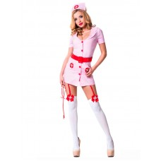 Костюм Похотливая медсестра, розовый (Le Frivole) (S/M) (02211S/M)