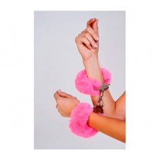 Наручники с пушистым розовым мехом