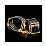 Наручники Fetish Fantasy Gold Cuffs черные с золотом