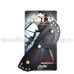 Маска Sitabella из натуральной кожи с шорами, черная (3083-1G)