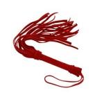 Плеть из натуральной велюровой кожи от компании СК-Визит, цвет красный, 3011-2bk