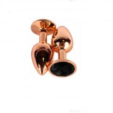 """Пробка анальная """"Vandersex"""", S, металл, черный кристалл, Bronze"""