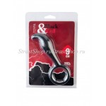Стимулятор простаты Toyfa Black&Red силиконовый, черный, 9см