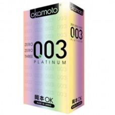 Презервативы Окамото 003 Platinum №10 Супер тонкие