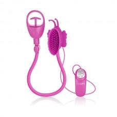 Помпа клиторальная с вибрацией ADV Butterfly Clit Pump-pink