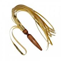 Плеть Sittabella с анальной пробкой, цвет - золотой (5021-8)
