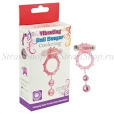 Кольцо с 2 утежеляющими шариками розовое