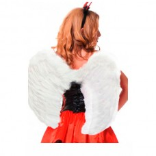 Крылья ангела перьевые 60х50см белые (One size) (02883 OS)