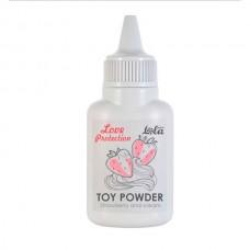 Пудра для игрушек ароматизированная Love Protection Клубника со сливками 15гр
