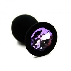 Анальная пробка из силикона dark purple