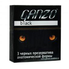 Презервативы Ganzo Black № 3 Черные анатомические