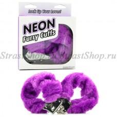 Наручники Neon Luv Touch Neon Furry Cuffs - Purple (PD3809-12)