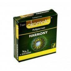 Презервативы Окамото Harmony №3 Ребристые
