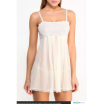 Сорочка белая прозрачная Nicolette (Casmir) (L/XL)