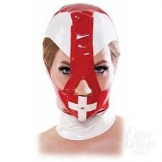 Маска медсестры на голову Malpractice Mask из винила красная (PD3695-00)