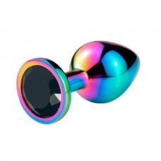 """Пробка анальная """"Vandersex"""", M, металл, черный кристалл, Hamelion (169-M-BLK-HAM)"""